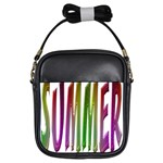 Summer Colorful Rainbow Typography Girls Sling Bags