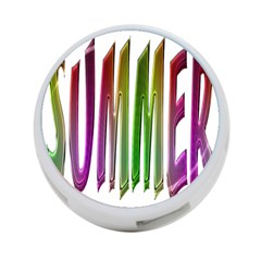 Summer Colorful Rainbow Typography 4 Port Usb Hub (two Sides)  by yoursparklingshop
