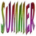 Summer Colorful Rainbow Typography Magic Photo Cubes