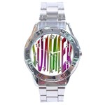 Summer Colorful Rainbow Typography Stainless Steel Analogue Watch