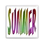 Summer Colorful Rainbow Typography Memory Card Reader (Square)
