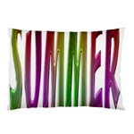 Summer Colorful Rainbow Typography Pillow Case (Two Sides)