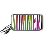 Summer Colorful Rainbow Typography Portable Speaker