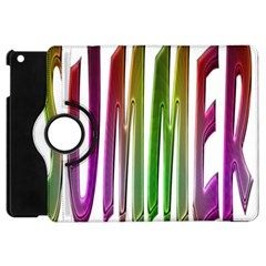 Summer Colorful Rainbow Typography Apple Ipad Mini Flip 360 Case by yoursparklingshop