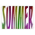 Summer Colorful Rainbow Typography Samsung Galaxy Tab 8.9  P7300 Flip Case