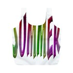 Summer Colorful Rainbow Typography Full Print Recycle Bags (M)