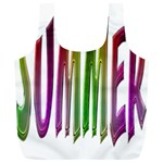 Summer Colorful Rainbow Typography Full Print Recycle Bags (L)