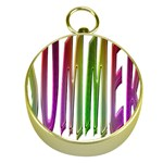 Summer Colorful Rainbow Typography Gold Compasses