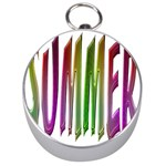 Summer Colorful Rainbow Typography Silver Compasses