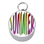 Summer Colorful Rainbow Typography Mini Silver Compasses