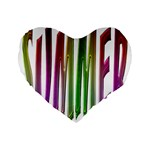 Summer Colorful Rainbow Typography Standard 16  Premium Flano Heart Shape Cushions