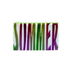 Summer Colorful Rainbow Typography Cosmetic Bag (xs) by yoursparklingshop