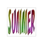 Summer Colorful Rainbow Typography Satin Bandana Scarf