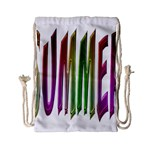 Summer Colorful Rainbow Typography Drawstring Bag (Small)