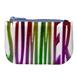 Summer Colorful Rainbow Typography Large Coin Purse
