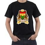 Jah Rastafari Reggae Crest Men s T-Shirt (Black)