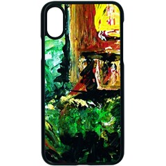 Old Tree And House With An Arch 5 Apple Iphone X Seamless Case (black) by bestdesignintheworld