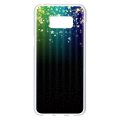 Colorful Space Rainbow Stars Samsung Galaxy S8 Plus White Seamless Case by LoolyElzayat