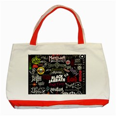 Metal Bands College Classic Tote Bag (red)