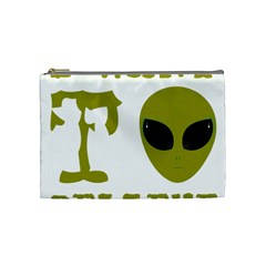 I Want To Believe Cosmetic Bag (medium)  by Samandel
