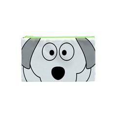 Animal Cartoon Colour Dog Cosmetic Bag (xs) by Nexatart
