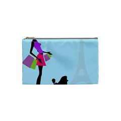 Woman Girl Lady Female Young Cosmetic Bag (small)  by Nexatart