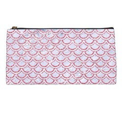 Scales2 White Marble & Pink Glitter (r) Pencil Cases by trendistuff