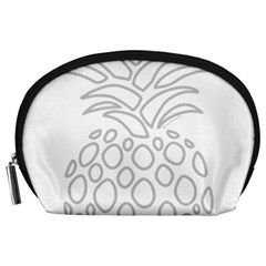 Pinapplesilvergray Accessory Pouches (large)