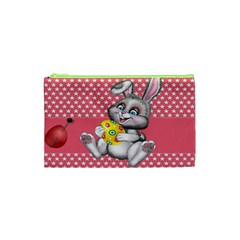 Illustration Rabbit Easter Cosmetic Bag (xs) by Sapixe