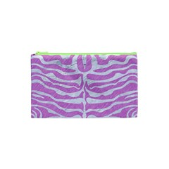Skin2 White Marble & Purple Colored Pencil Cosmetic Bag (xs) by trendistuff