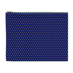 Blue Fractal Art Honeycomb Mathematics Cosmetic Bag (xl) by Sapixe