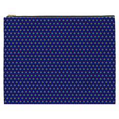 Blue Fractal Art Honeycomb Mathematics Cosmetic Bag (xxxl)  by Sapixe