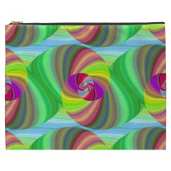 Seamless Pattern Twirl Spiral Cosmetic Bag (xxxl)  by Sapixe