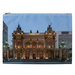 Municipal Theatre Of Sao Paulo Brazil Cosmetic Bag (xxl)  by Sapixe