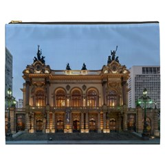 Municipal Theatre Of Sao Paulo Brazil Cosmetic Bag (xxxl)  by Sapixe
