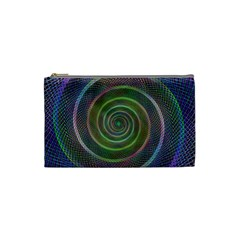 Spiral Fractal Digital Modern Cosmetic Bag (small)