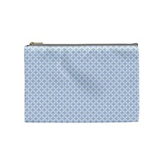Alice Blue Hearts In An English Country Garden Cosmetic Bag (medium)  by PodArtist