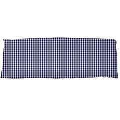 Usa Flag Blue And White Gingham Checked Body Pillow Case (dakimakura) by PodArtist