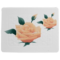 Rose Flower Nature Floral Summer Jigsaw Puzzle Photo Stand (rectangular) by Sapixe