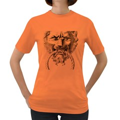 Steampunk Steam Punk Lion Door Women s Dark T Shirt