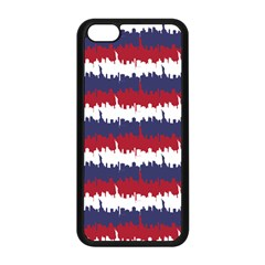 244776512ny Usa Skyline In Red White & Blue Stripes Nyc New York Manhattan Skyline Silhouette Apple Iphone 5c Seamless Case (black) by PodArtist