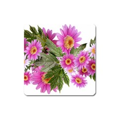 Daisies Flowers Arrangement Summer Square Magnet by Sapixe