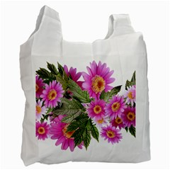 Daisies Flowers Arrangement Summer Recycle Bag (one Side) by Sapixe
