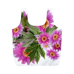 Daisies Flowers Arrangement Summer Full Print Recycle Bags (m)  by Sapixe
