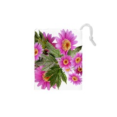 Daisies Flowers Arrangement Summer Drawstring Pouches (xs)  by Sapixe