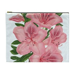 Flower Plant Blossom Bloom Vintage Cosmetic Bag (xl) by Sapixe