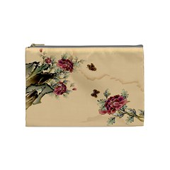 Flower Traditional Chinese Painting Cosmetic Bag (medium)  by Sapixe