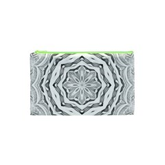 Mandala Pattern Floral Cosmetic Bag (xs)