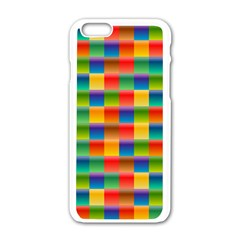 Background Colorful Abstract Apple Iphone 6/6s White Enamel Case by Nexatart
