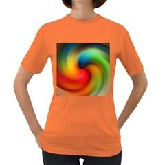 Abstract Spiral Art Creativity Women s Dark T Shirt